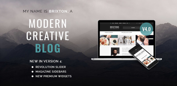Brixton v5.0 - WordPress Blog Theme