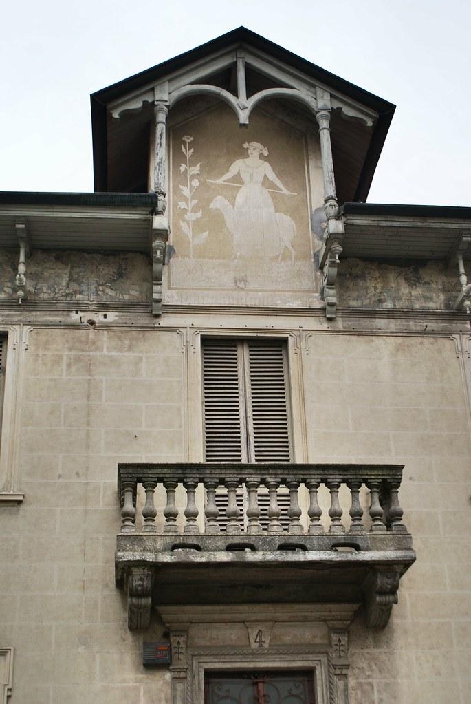 Dans le quartier de Borgo Po à Turin.
