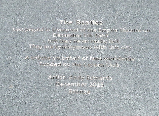 Beatles Memorial Plaque