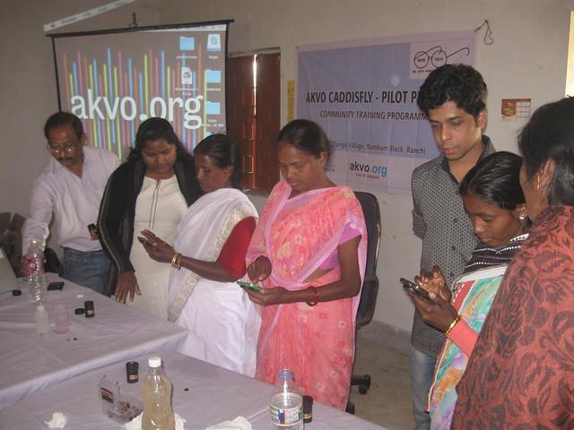 Training of village volunteers, Canon POWERSHOT A590 IS