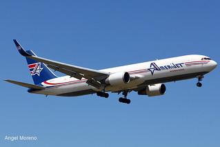 Amerijet International, Boeing 767-323(ER), N378CX arriving at TJSJ.