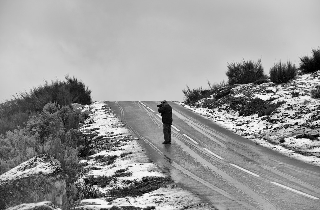 Fotógrafos em dia de nevada - Barroso (10)