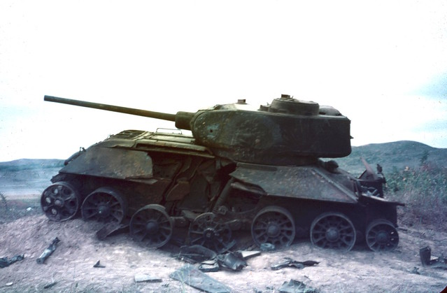 Knocked-Out T34, Suwon Oct 1950