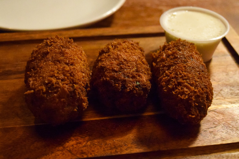 Hickory Smoke Brisket Croquettes at Red Dog Saloon, Soho