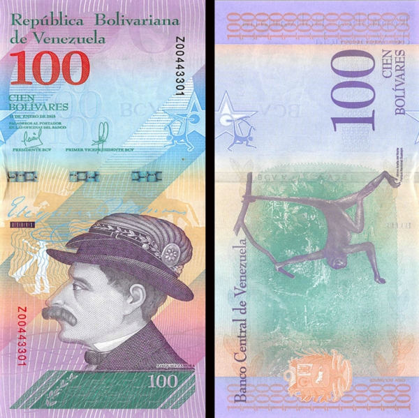 100 Bolívares Venezuela 2018, P106