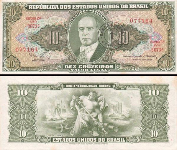 1 centavo Brazília 1966-67, P183