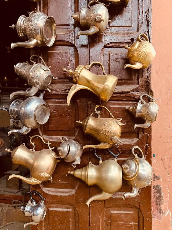 Negozio di teiere marocchine a Rabat