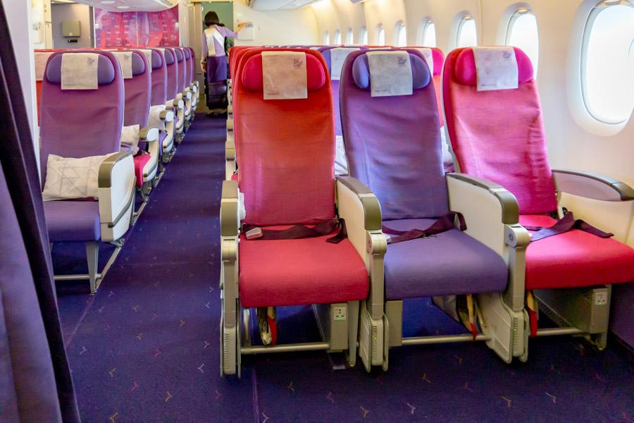 タイ国際航空A380 エコノミークラス非常口座席