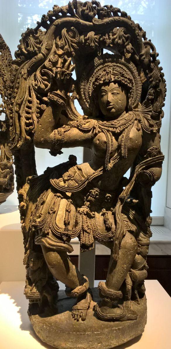 167 WP_20180909_11_13_09_ProStoneBracketSculptureOfADancerAboutAS1100-1200KarnatakaIndia