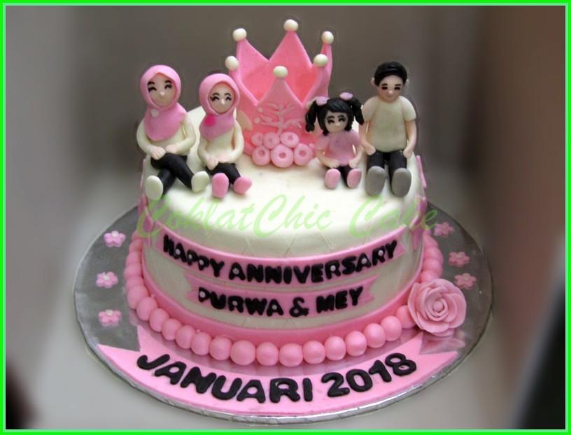 Anniversarry Cake Purwa & Mey 18 cm