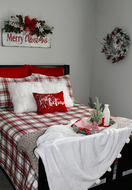 christmas bedroom opposite end