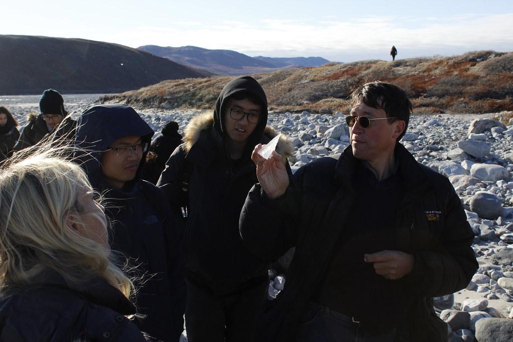 Architecture students in Dorte Mandrup and Marianne Hansen's option studio learn about the terrain in Greenland.   photo / Roberto Villasante (B.Arch. '20)