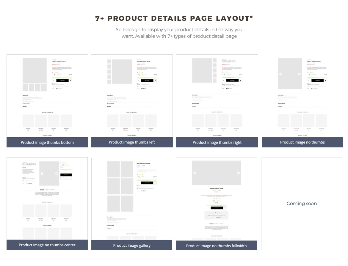 multi product detail page - food and drink prestashop theme