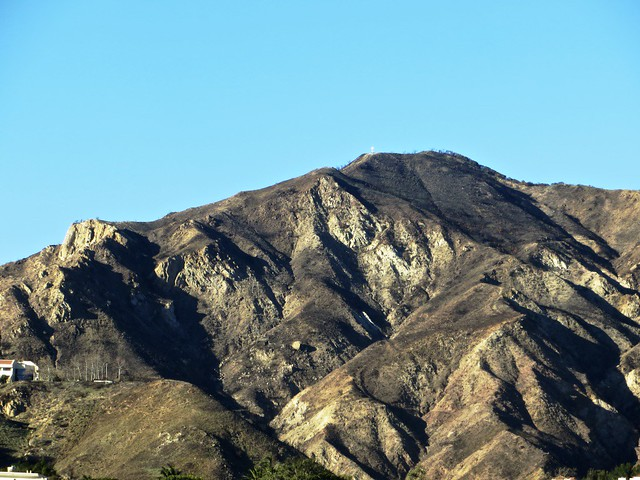 the santa monica mountains are naked in Malibu's burn areas