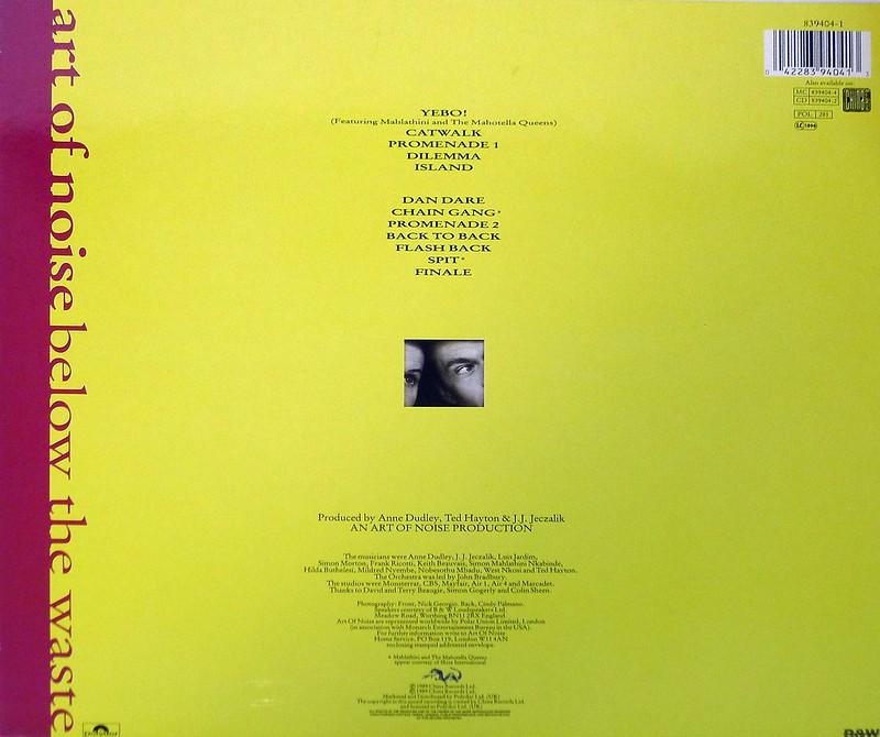 "ART OF NOISE Below The Waste 12"" LP VINYL"