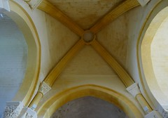 Coupole du transept, église romane Saint Martin (XIIe), Arces, Saintonge, Charente-Maritime, Nouvelle-Aquitaine. - Photo of Grézac