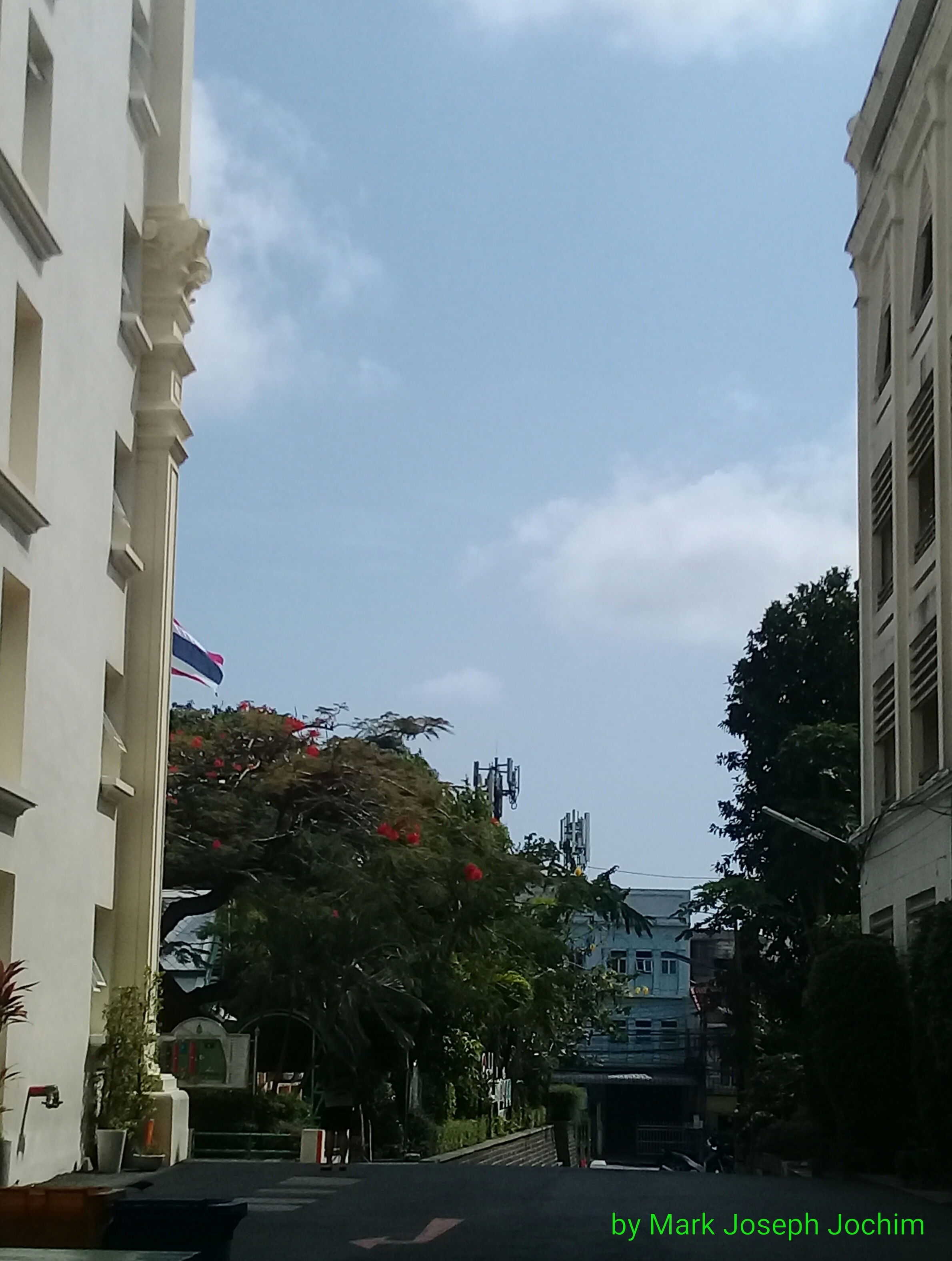 View from Plukpanya Municipal School, looking eastward to the main gate.