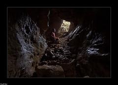 Daniel et Fidji dans une des Grottes Mines de la Barme - Chenecey Buillon