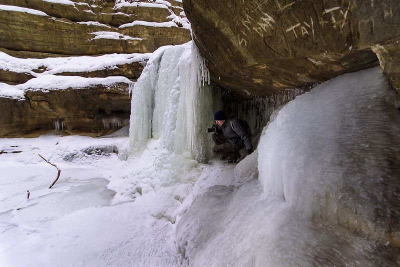 Exploring the Ice Cave