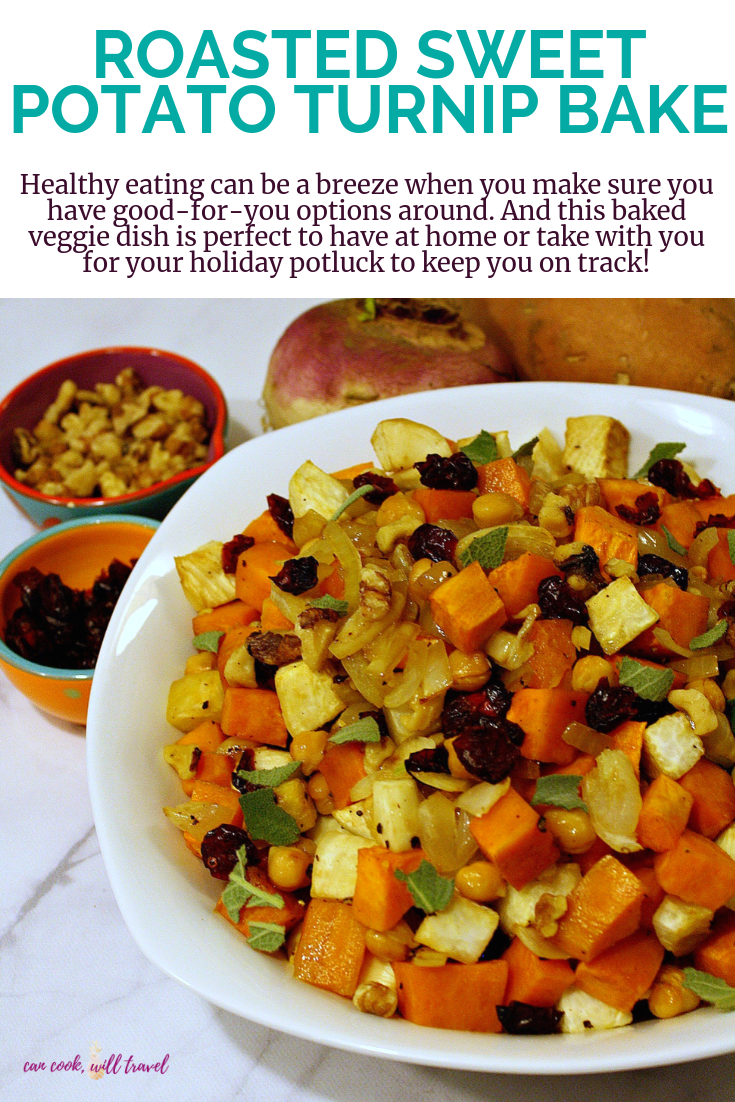 Roasted Sweet Potato Turnip Bake