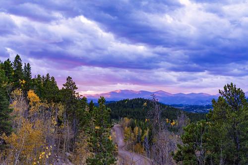 colorado goldengatecanyonstatepark goldengatestatepark rockies rockymountains autumn clouds fall fallcolors mountains sky sunrise trees