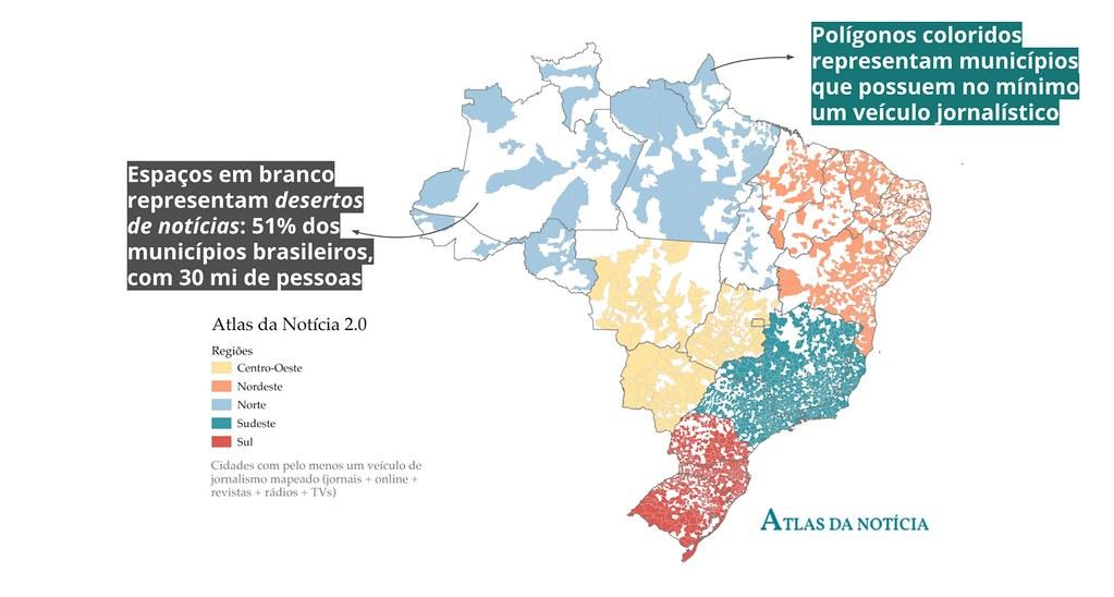 mapa da mídia no país