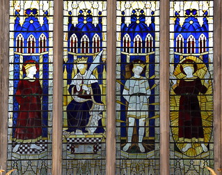 St Edmund as youth, king, martyr and saint (Ninian Comper, 1952)