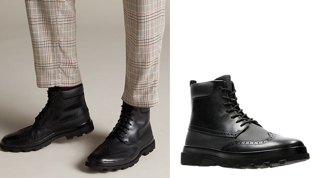 Botas de piel como accesorios para hombres