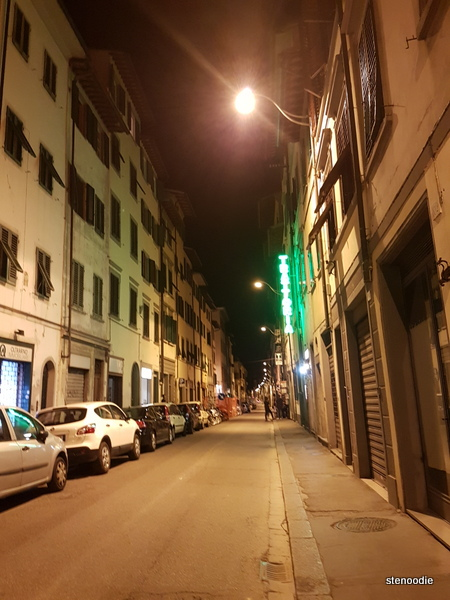 streets of Florence at night