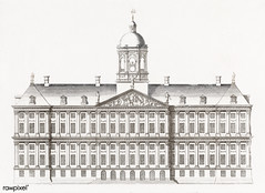 The City Hall in Amsterdam by an anonymous maker (1696-1706). Original from The Rijksmuseum. Digitally enhanced by rawpixel.