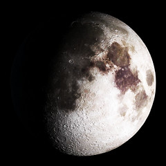 Waxing gibbous. Original from NASA. Digitally enhanced by rawpixel.