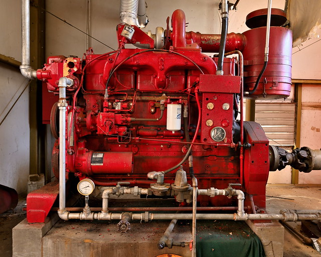 Cummins Diesel fire pump engine