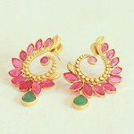 Brass veli earrings From Aatman india