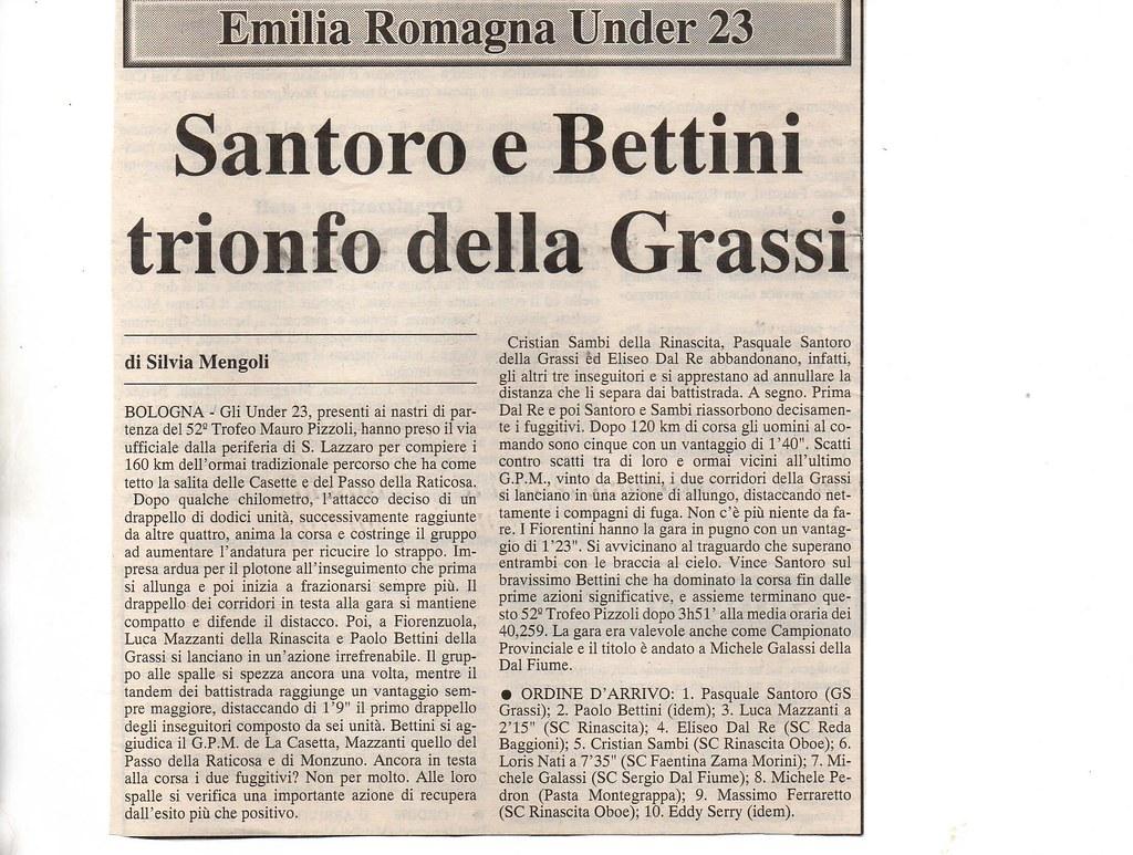 Santoro e Bettini trionfo della Grassi