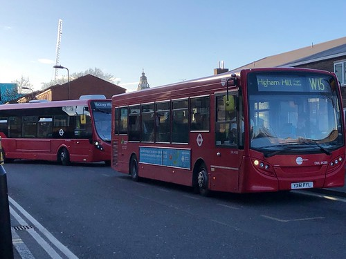 Slightly indirect but quieter way to the Waltham Forest marshes and reservoir estate areas. | Tower Transit London ADL Enviro 200 on the W15 to Higham Hill, Cogan Avenue.