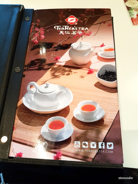 Ten Ren's Tea menu cover