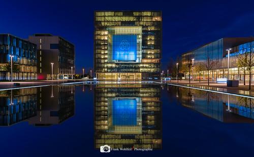 Blaue Stunde in Essen Thyssen Quartier
