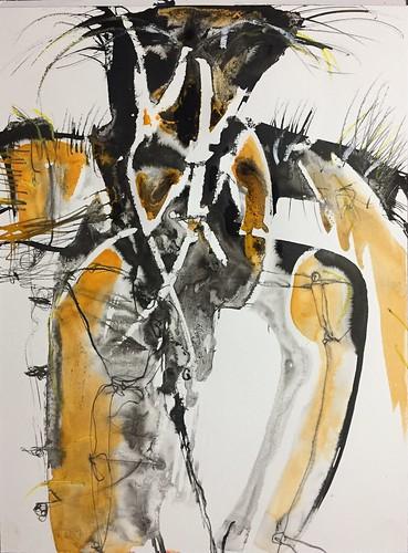 Körperlandschaft - bodylandscapes, Mixed Media on paper, 2018