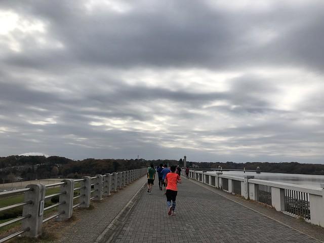 所沢シティマラソン 狭山湖