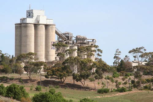 Silos still in place at the Fyansford cement works