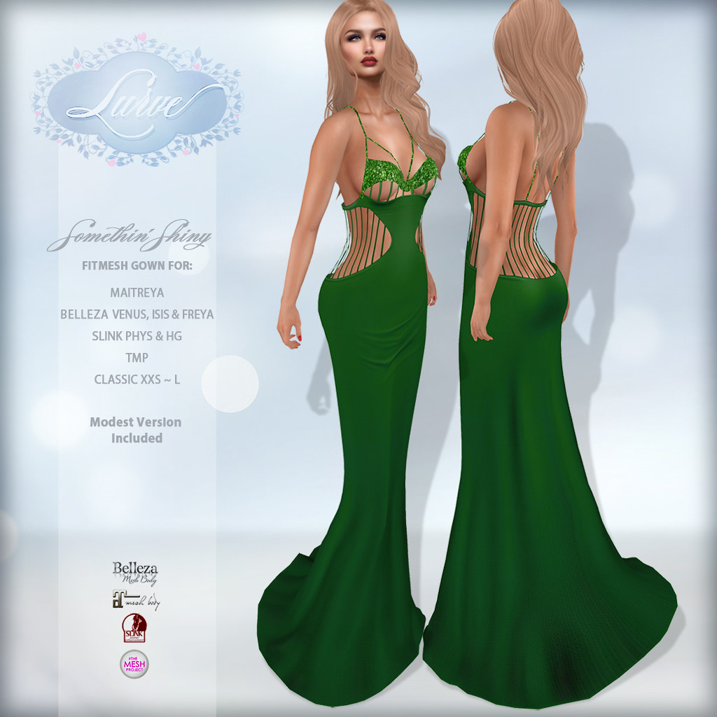 *Lurve* Somethin' Shiny Gown in Pine - TeleportHub.com Live!