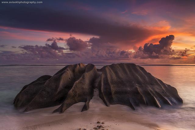 The Bird Rock @ Anse Source d'Argent, La Digue, Seychelles