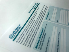 A HMRC Stamp Duty Land Tax form
