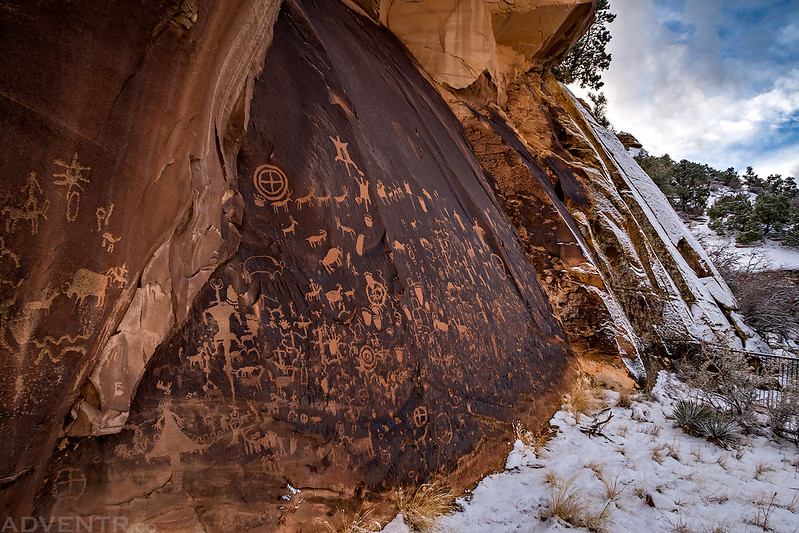 Newspaper Rock after a Snowstorm