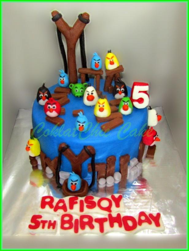 Cake Angry Birds RAFISQY 15 cm