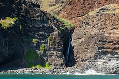 Na Pali Kalalau Trail waterfall Kauai, Hawaii