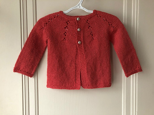 Lise's Fairy Dust by Dani Sunshine knit with Garnstudio Drops Flora in Coral