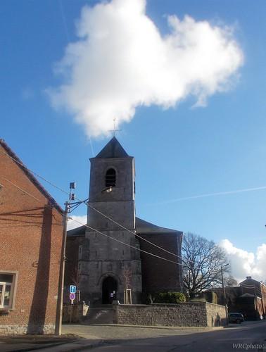 Eglise saint-Martin. Mignault, Hainaut, Belgique.