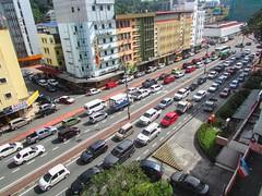 Traffic Nightmare In Downtown Kota Kinabalu