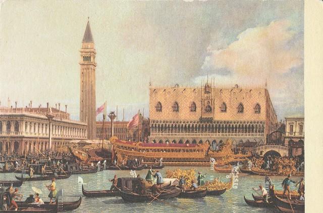 Mariage avec la mer, Venise – toile d'Antonio Canaletto